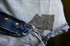 Our Big Mad Adventure: DIY Tutorial - Repair Jeans with a Ripped Crotch