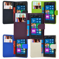 4 Colour Magnetic PU Leather Flip Wallet Phone Case Cover for Nokia Lumia 1020 | eBay