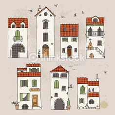mediterranean houses art images - Google Search
