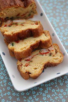 Cake courgette, poivron & crevette