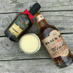 Get festive with Black Dirt Crown Maple Bourbon Eggnog. #yum #festive #eggnog #bourbon #drinks #holiday
