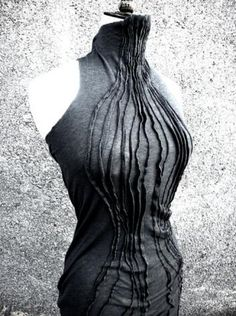 Fabric Manipulation - dress with pintuck pleats for textured patterns & added interest; creative sewing // Susan Waller