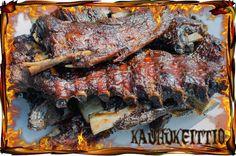 Villisian ribsit savustettuna | Smoked Wild Boar ribs