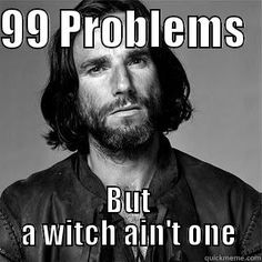The Problem was that the Salem Witch Trials were taking a toll on effect of the humans. The witch has nothing to do with them except for Abigail's affair with John Proctor.