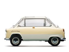 Microcar Zuendapp Janus 1958. Front & rear doors. Passengers sit back-to-back. #COTD. 07 May 2014.