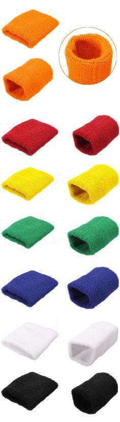 Sweatbands pulso algodão banda envoltório mão badminton tênis esportes unissex