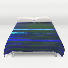 Solar powered lights    Duvet Comforter Bedding Home Decor by @ANoelleJay @Society6 https://society6.com/product/blue-lines276681_duvet-cover#s6-6618430p38a46v343