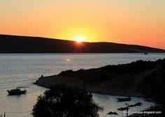 Sunset on the outskirts of Foça - a small town about 130 km south of Cunda Adası, Turkey.