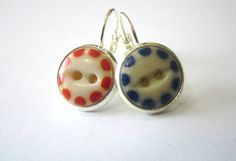 University of Florida antique button earrings. Go Gators!