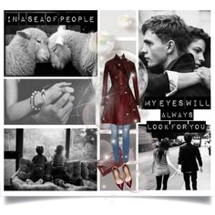 """""""Fantasy Outfit#191 - In a sea of people..."""" by jinath-hyder on #Polyvore  #love - In a sea of people, my eyes will always look for you. #Azzedine #Alaïa dark #red calf hair #coat. #Sisley Slim fit #jeans, #VinceCamuto Billy #Clutch, #Zara Synthetic Patent Leather High Heel Court #Shoe #burgundy"""