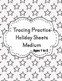 This a fun way to teach writing to a 1 and 2 year, tracing the lines for early writing practice