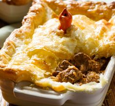 Winter Cooking is all about comfort food. Nothing says comfort quite like a slow cooked curry or a homemade pie. This recipe for a Curried Beef Pie is the best of both these worlds. The curry is mild, strong on flavor rather than heat and the recipe simplifies pie making by using store bought puff pastry for the crust.