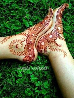 An essential adornment of every bride is beautiful designs of mehndi on hands and feet.