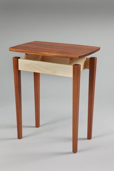 Caught in the Cypher Medium Side Table Maple and Sapele image 1 Woodworking Table Saw, Woodworking Tools For Sale, Woodworking Furniture, Woodworking Plans, Woodworking Classes, Woodworking Projects, Side Table Styling, Bed Frame Plans, Floating Table