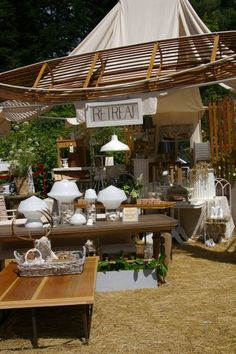 This shot is of our RETREAT booth at the BarnHouse Vintage Marketplace in July, 2011. A similar image was featured in FOLK magazine's Premiere Issue.