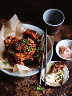crispy miso and ginger fried chicken with miso mayonnaise from donna hay…