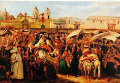 Lima by  Rugendas: Mercado en la plaza de la Caridad (luego de la Inquisición, hoy plaza Bolivar frente al congreso)
