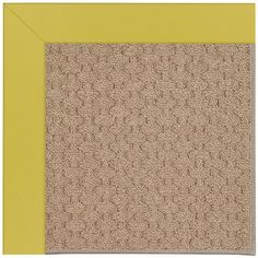 Capel Zoe Grassy Mountain Machine Tufted Citronella and Beige Area Rug Rug Size: Square 8'