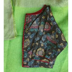 Raw Silk Embroidered Blouses Collection from TheFarEastArtStudio Simple Blouse Designs, Stylish Blouse Design, Blouse Neck Designs, Dress Designs, Blouse Styles, Kalamkari Blouse Designs, Cotton Saree Blouse Designs, Kalamkari Blouses, Designer Blouse Patterns