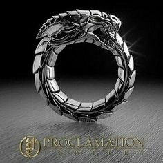 Immorality ring. Product Description Solid Sterling Silver Mens ring 2 Blood Red Rubies for eyes. Design features a Sterling Silver Dragon, depicted as the Ouroboros 12mm wide at top