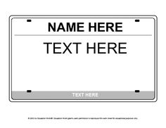 """Education World: License Plate Icebreaker Template. Make license plates for box """"cars"""". License Plate Crafts, License Plates, First Day Of School, Back To School, Transportation Unit, Education World, Icebreaker, Dramatic Play, Travel Themes"""