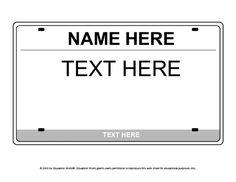 "Education World: License Plate Icebreaker Template.  Make license plates for box ""cars""."