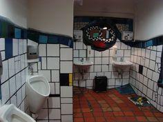 Bathroom at Kunst Haus Wien, AKA the Hunderdtwasser museum.
