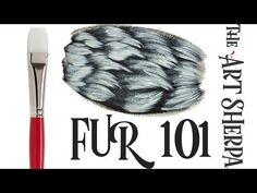 How to paint Basic Fur with Acrylic Paint EASIER than you think - YouTube