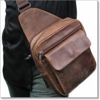 Cross Carry Leather Concealed Holster Shoulder Bag by Coronado Leather