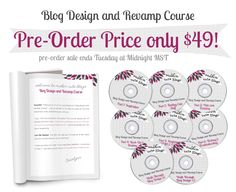 blog design and revamp course by makin' cute blogs $49.  tempting...