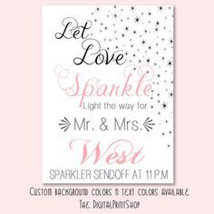 Sparkler Send Off Sign for Wedding Printable by DigitalPrintShop, $5.99 #wedding #printable #decoration
