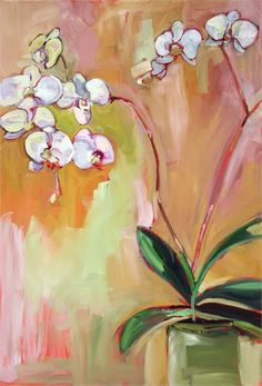 Shows at Maine Art Hill Claire, Oil On Canvas, Orchids, Cow, Seasons, Landscape, Floral, Painting, Inspiration