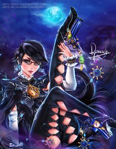 Fan Art of Bayonetta in celebration for the anniversary of Platinum games. Thanks for this amazing game! Platinum Games = pure love Bayonetta(c) Mari Shimazaki Art (c) ME Videogames, Platinum Games, Princess Adventure, Flame Princess, Video Game Characters, Female Characters, Comic Games, Anime Fantasy, Video Game Art