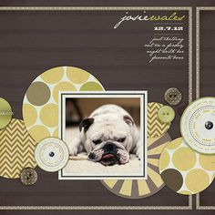 #papercraft #scrapbook #layout   Layout Of The Day: My Bone! | Digital Scrapbooking at Digital Scrapbook Place