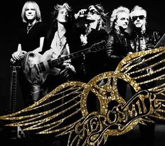 Aerosmith all together here late 80'S