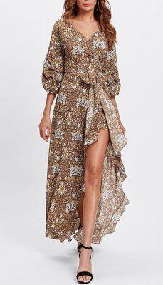 Модное платье с запахом   -50%