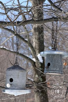 Upcycled Galvanized Birdhouses - Finding Home