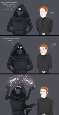 LOLOLOLOLOLOL  I hate the idea of Kylux soooo this was great for me! Kylo needs to focus on ruling the Galaxy!!!