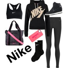 Nike by swaggy-sarim on Polyvore featuring polyvore, fashion, style and NIKE