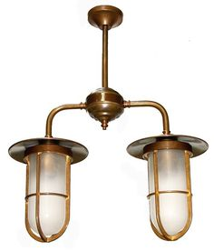 Manufactured in Ireland, this industrial style brass cage pendant is reminiscent of a traditional Well GLASS PENDANT LIGHT.
