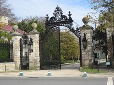Newport RI Mansion gate