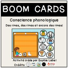 Boom Cards - La maternelle de Sophie Conscience, Preschool