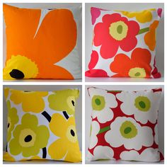 Marimekko Unikko Poppy Pillow Cover, Floral Cushion, Accent Pillow Floral Cushions, Marimekko, Accent Pillows, Plastic Cutting Board, Poppy, Pillow Covers, Quilts, Pants, Sweetie Belle