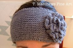 Free Knitted Headband with Flower | PLEASE NOTE - I AM NOT A CROCHETER SO I DO NOT HAVE A CROCHET ...