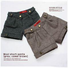 MSD Wool short pants(gray or camel brown)    $29.00