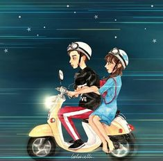 Couple Illustration, Illustration Art, Illustrations, Anime Love Couple, Couple Art, Drama Korea, Korean Drama, Fight My Way Kdrama, Korean Anime