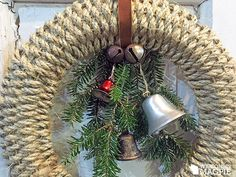 Making a woven wreath – Wisconsin Magpie Christmas Wreaths To Make, Diy Christmas Ornaments, How To Make Wreaths, Holiday Wreaths, Rustic Christmas, Holiday Crafts, Crafts To Make, Christmas Decorations, Christmas Ideas