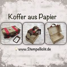 … as promised, here is my guide for the money gift box ….: o) … Source by Stempellicht Happy Birthday Minions, Large Suitcase, Envelope Punch Board, Origami Box, Explosion Box, Bear Cakes, Stamping Up, Cakes And More, Diy Paper