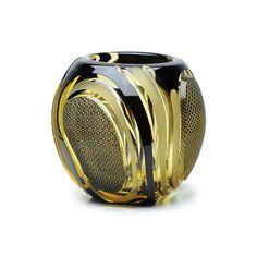 edokiriko(Japanese traditional art glass) made by Hanashyo ornament 江戸切子 花器 (華硝)