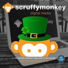 Happy St Patrick's Day from everyone @scruffymonkeydm. #stpatricksday #bolton #website